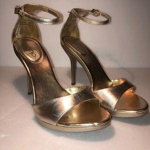 Aldo gold high heel sandals